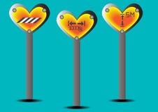 Καρδιά σημαδιών κυκλοφορίας Στοκ Εικόνες