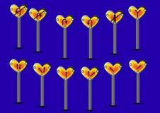 Καρδιά σημαδιών συμβόλων Στοκ Φωτογραφίες