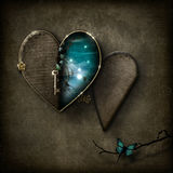 Καρδιά σκηνής φαντασίας locket ελεύθερη απεικόνιση δικαιώματος