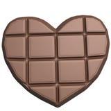 Καρδιά σοκολάτας που απομονώνεται στο άσπρο υπόβαθρο Στοκ φωτογραφίες με δικαίωμα ελεύθερης χρήσης