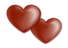 Καρδιά σοκολάτας στοκ φωτογραφία με δικαίωμα ελεύθερης χρήσης