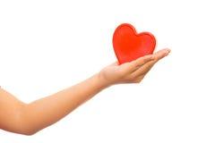 Καρδιά στα χέρια που απομονώνονται Στοκ φωτογραφία με δικαίωμα ελεύθερης χρήσης