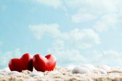 Καρδιά στην άμμο στην ακτή Στοκ φωτογραφία με δικαίωμα ελεύθερης χρήσης