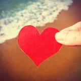 Καρδιά στην ακτή Στοκ φωτογραφίες με δικαίωμα ελεύθερης χρήσης