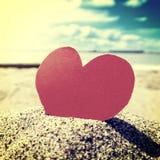 Καρδιά στην ακτή Στοκ Εικόνες