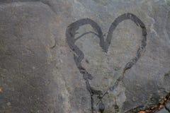 Καρδιά στην πέτρα Στοκ Εικόνα