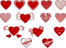 Καρδιά στις διαφορετικές εκδόσεις Απεικόνιση αποθεμάτων