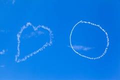 Καρδιά στον ουρανό Στοκ Εικόνα