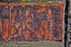 Καρδιά στον τοίχο Στοκ Εικόνες