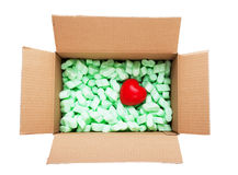 Καρδιά στο κιβώτιο Στοκ εικόνα με δικαίωμα ελεύθερης χρήσης