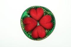 καρδιά 4 στο κοχύλι cocohut Στοκ εικόνα με δικαίωμα ελεύθερης χρήσης