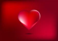 Καρδιά στο κόκκινο υπόβαθρο Στοκ Εικόνες