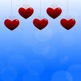 Καρδιά στο μπλε υπόβαθρο Στοκ φωτογραφία με δικαίωμα ελεύθερης χρήσης