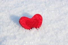Καρδιά στο χιόνι. Στοκ εικόνα με δικαίωμα ελεύθερης χρήσης