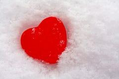 καρδιά στο χιόνι Στοκ Εικόνα