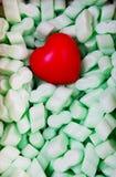 Καρδιά στο polyfoam στοκ εικόνες με δικαίωμα ελεύθερης χρήσης