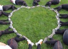 Καρδιά σόφτμπολ Fastpitch Στοκ Φωτογραφία