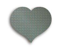 Καρδιά του εκλεκτής ποιότητας υφάσματος Στοκ Εικόνα