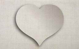 Καρδιά του λινού Στοκ εικόνα με δικαίωμα ελεύθερης χρήσης