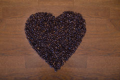 Καρδιά του καφέ Στοκ εικόνες με δικαίωμα ελεύθερης χρήσης