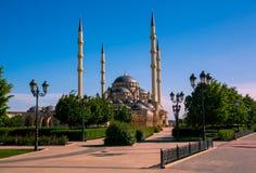 Καρδιά του μουσουλμανικού τεμένους Τσετσενίας στο Γκρόζνυ Στοκ Φωτογραφίες