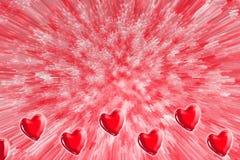 καρδιά το χαρτοφυλάκιό μου στην υποδοχή βαλεντίνων Στοκ Φωτογραφία
