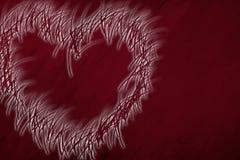 καρδιά το χαρτοφυλάκιό μου στην υποδοχή βαλεντίνων Στοκ εικόνες με δικαίωμα ελεύθερης χρήσης