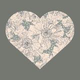 Καρδιά των εκλεκτής ποιότητας λουλουδιών Στοκ εικόνες με δικαίωμα ελεύθερης χρήσης