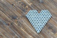 Καρδιά των καρυδιών βιδών Στοκ Φωτογραφία