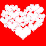 Καρδιά των καρδιών Στοκ φωτογραφίες με δικαίωμα ελεύθερης χρήσης