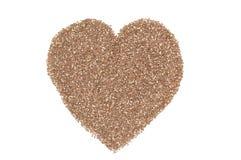 Καρδιά των σπόρων chia Στοκ εικόνα με δικαίωμα ελεύθερης χρήσης
