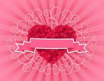 Καρδιά των τριαντάφυλλων - απεικόνιση για την ημέρα του βαλεντίνου Στοκ Εικόνες