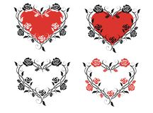 Καρδιά των τριαντάφυλλων Στοκ φωτογραφία με δικαίωμα ελεύθερης χρήσης