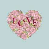 Καρδιά των τριαντάφυλλων Στοκ εικόνα με δικαίωμα ελεύθερης χρήσης