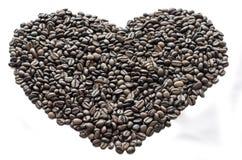 Καρδιά των φασολιών καφέ Στοκ φωτογραφία με δικαίωμα ελεύθερης χρήσης