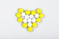 Καρδιά των χαπιών Στοκ φωτογραφία με δικαίωμα ελεύθερης χρήσης