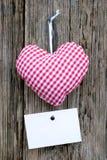καρδιά υφασμάτων Στοκ φωτογραφία με δικαίωμα ελεύθερης χρήσης