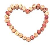 Καρδιά φελλού Στοκ φωτογραφία με δικαίωμα ελεύθερης χρήσης