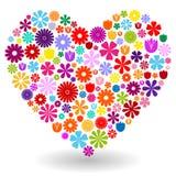 Καρδιά φιαγμένη από λουλούδια Στοκ φωτογραφίες με δικαίωμα ελεύθερης χρήσης