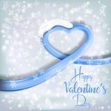 Καρδιά φιαγμένη από φωτεινή κορδέλλα για την ημέρα του βαλεντίνου (14 Φεβρουαρίου) Στοκ Φωτογραφία