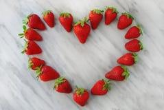 Καρδιά φραουλών Στοκ φωτογραφία με δικαίωμα ελεύθερης χρήσης