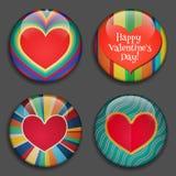 Καρδιά χρώματος με τη θέση για τις εικόνες ή το κείμενο διάνυσμα Στοκ Εικόνες