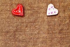 Καρδιά δύο τυρκουάζ ημερησίως βαλεντίνων ` s του ST υποβάθρου Στοκ Φωτογραφίες
