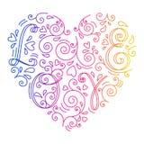 Καρδιά Doodle με τις επιστολές Στοκ Φωτογραφία