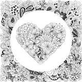 Καρδιά doodle Στοκ Εικόνα