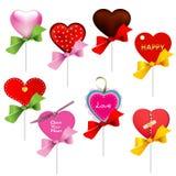 καρδιά lollipop Στοκ Εικόνα