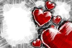 Καρδιά pancil 3 Στοκ Εικόνα