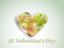 Καρδιά Watercolor σε ένα υπόβαθρο χρώματος Στοκ εικόνα με δικαίωμα ελεύθερης χρήσης