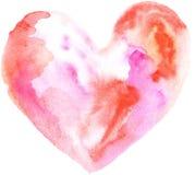Καρδιά Watercolor Στοκ εικόνα με δικαίωμα ελεύθερης χρήσης
