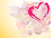 Καρδιά Watercolor Στοκ Εικόνα